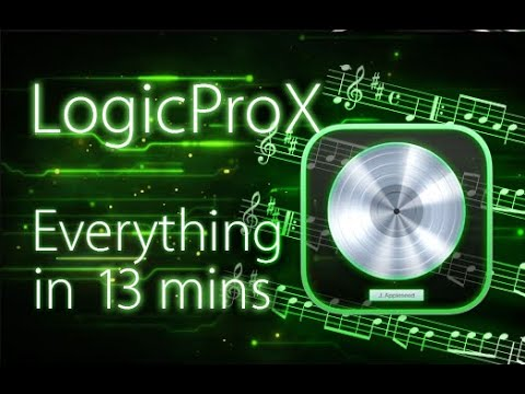 Logic Pro X - Tutorial for Beginners in 13 MINUTES!  [ 2021 COMPLETE ]