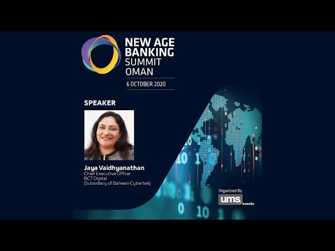 New Age Banking Summit 2020 | Ms. Jaya Vaidhyanathan, CEO - BCT Digital