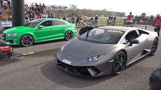Lamborghini Huracán Performante vs Audi RS3 Sedan