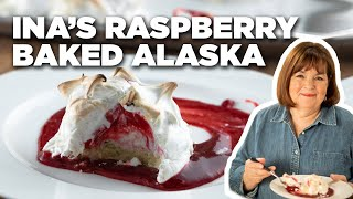 Ina Garten Makes Raspberry Baked Alaska   Food Network