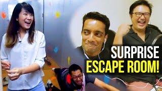 Surprise ESCAPE ROOM PRANK!!