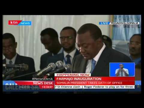 President Uhuru attends inauguration of the Somali's President Mohamed Faarmajo