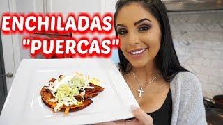 """MI RECETA DE ENCHILADAS ROJAS """"PUERCAS""""  -  #JackieHernandez Daily Vlogs"""