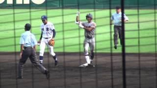 中前2塁打仙台育英高平沢大河選手2塁到達8.03秒