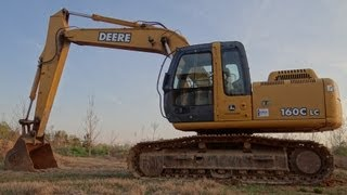 How To Operate A John Deere 160C LC-2 Excavator (Basic Controls)