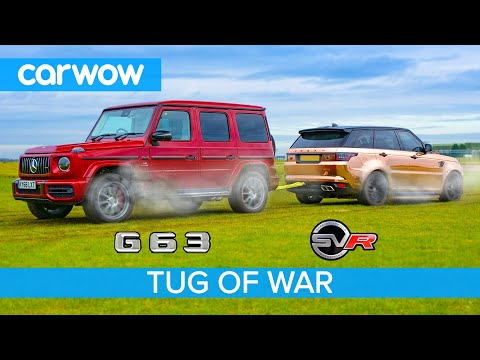 AMG G63 vs Range Rover Sport SVR: TUG OF WAR - Mat vs Yianni!