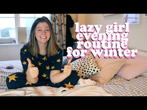 LAZY GIRL EVENING ROUTINE FOR WINTER | LUCY WOOD