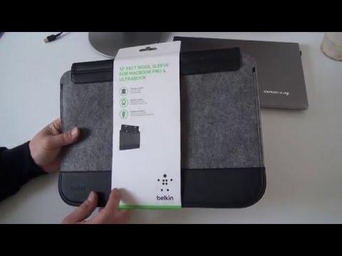 Belkin Wollfilz Schutzhülle Hülle Apple Macbook und Notebooks bis 33 cm 13 Zoll Lenovo 330p Tasche