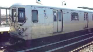 preview picture of video 'IND Far Rockaway Line: R46 H Train at B 60th St-Straiton Ave (Mott Ave Bound)'