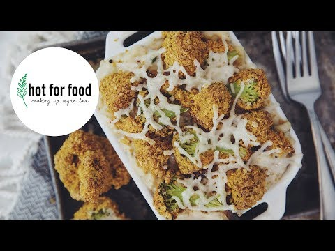 VEGAN WHITE TRUFFLE MAC & CHEESE WITH BROCCOLI NUGGETS | RECIPE?! EP #22 (hot for food)