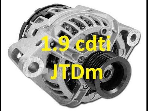 How to remove alternator 1.9 cdit z19dth z19dt z19dtl Vectra Astra Zafira Alfa p0621 p0622