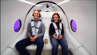 First Virgin Hyperloop Passenger Test in Las Vegas