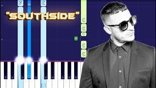 DJ Snake x Eptic - SouthSide Piano Tutorial EASY (Piano Cover)
