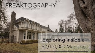 I Explored a $2,000,000 Mansion | Abandoned Mansions on YouTube | Urban Exploring with Freaktography