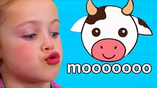 Teaches Animal Sounds | Moo Cow, Old MacDonald, and More!
