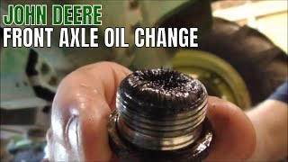 CHANGING FRONT AXLE OIL ON TRACTOR