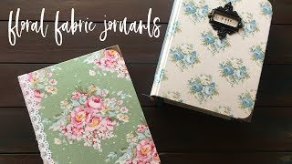 New Floral Fabric Journals | Vintage Junk Journal Flip Through | Handmade Blank Books