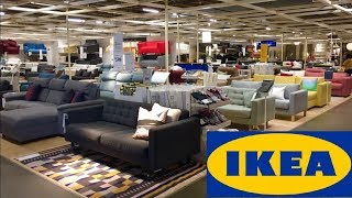 IKEA SOFAS COUCHES TABLES FURNITURE HOME DECOR SHOP WITH ME SHOPPING STORE WALK THROUGH 4K