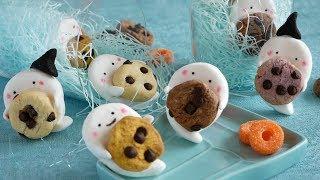 ハロウィンのおばけマシュマロ作ってみた!|HalloweenGhostMarshmallows