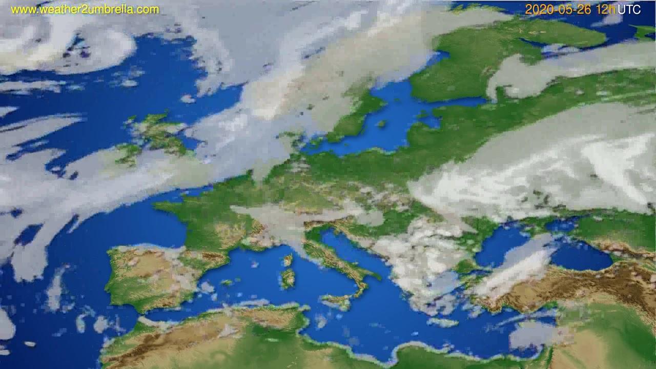 Cloud forecast Europe // modelrun: 00h UTC 2020-05-26