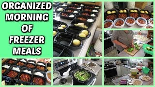 ORGANIZED MORNING OF FREEZER MEALS