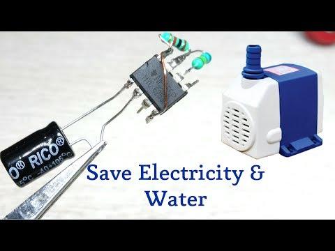 DIY cooler pump loop timer using 555 ic | Save Electricity & Water