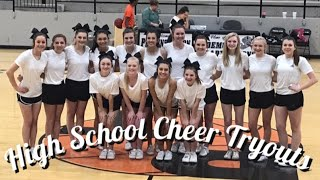 HIGH SCHOOL CHEER TRYOUTS! || Avery Anglin