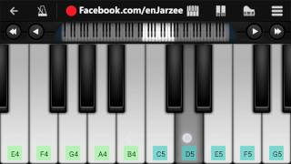 Main Tera Boyfriend (Raabta), Arijit Singh - Mobile Perfect Piano Tutorial