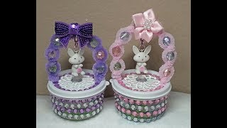 DIY~Sweet Easter Basket Candy Holder Made With D.T. Materials!