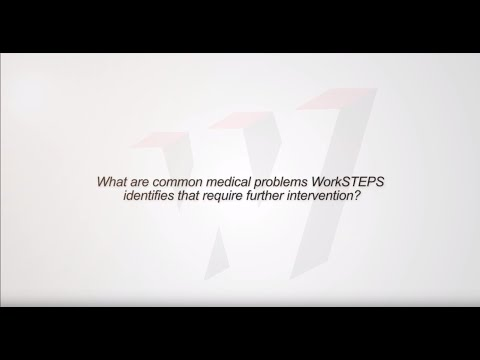 What are common medical problems WorkSTEPS identifies that require further intervention?