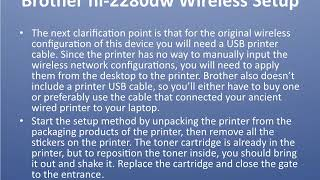 Steps for brother hl 2280dw wireless setup