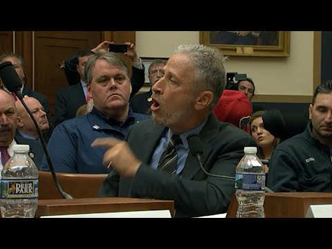Comedian Jon Stewart is scolding Congress for failing to ensure that a victims' compensation fund set up after the 9/11 attacks never runs out of money