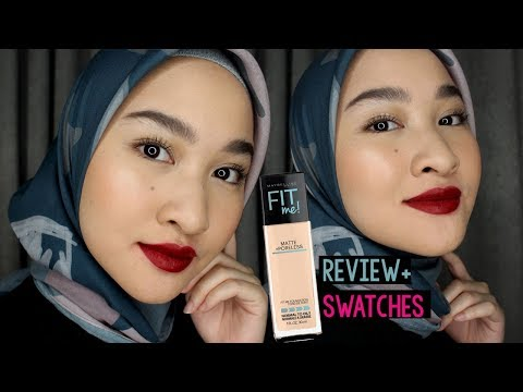 Flawless Face + Red Lips Makeup Tutorial + Fit Me Foundation Review | Kiara Leswara