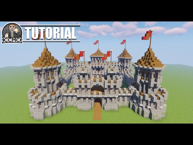 Castle Keep Kings Hall Medieval Rustic Build Schematic Minecraft Map