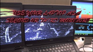 Use a laptop as a second monitor