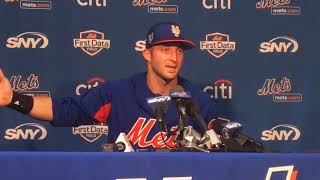 Mets' Tim Tebow gives 1st spring press conference