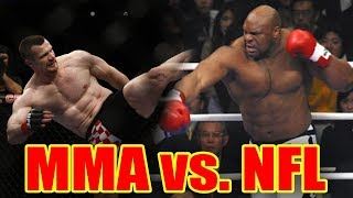 MMA's Deadliest Kicker vs. 340lbs NFL Beast (KILLER KO!)