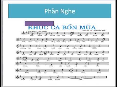 Âm nhạc 7 Tiết 22 Học hát bài : Khúc ca bốn mùa.Âm nhạc thường thức : Một số thể loại bài hát