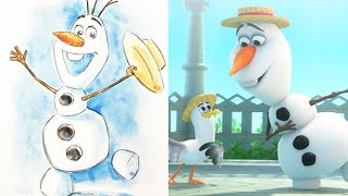 How To Draw Olaf from Disney