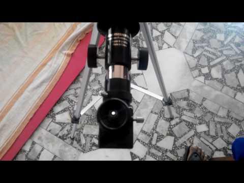 Celestron 50az (cheapest) Telescope 20 mm Eye Piece Zoom Demo