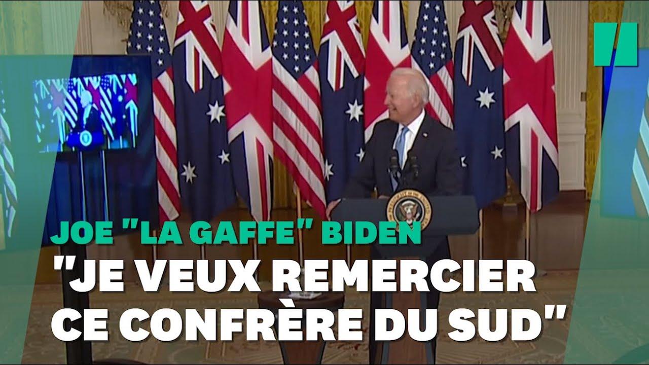 Biden a eu un peu de mal au moment de remercier le premier ministre australien