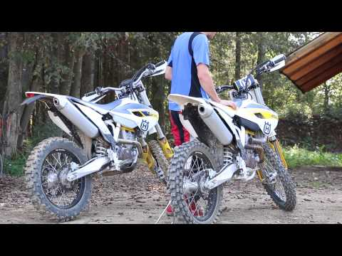Husqvarna FC 250 and FE 250 sound - motocross and enduro stock pipe sound test