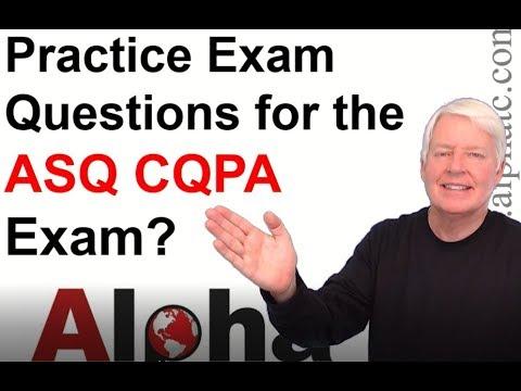 ASQ CQPA Practice Exam - YouTube