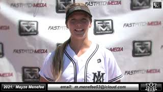 2021 Mayze Menefee Pitcher and Third Base Softball Skills Video - Athletics Mercado - Banister