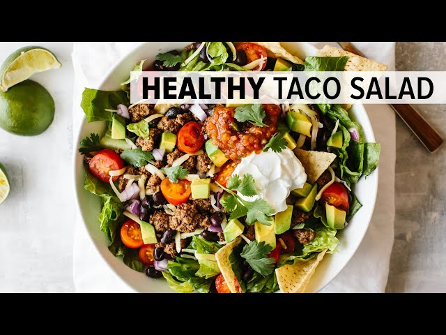 TACO SALAD RECIPE | easy, healthy and customizable to all diets