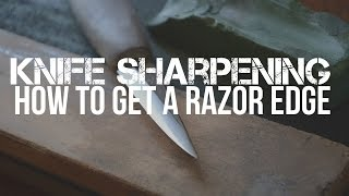 Knife Sharpening  Sharpening A Mora Carving Knife To A Razor Edge