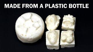 Turning a plastic soda bottle into foam