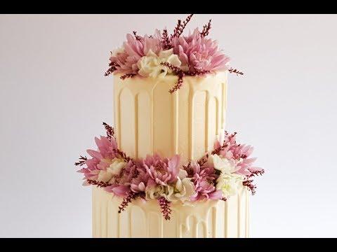 Super Sparkling White on White Drip Cake Tutorial- Rosie's Dessert Spot