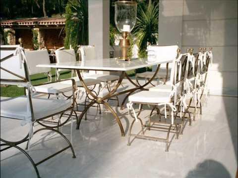 LUXUS Gartenmöbel Gartentisch Gartenstühle Gartenliegen Garden furniture