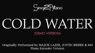 Cold Water (Piano karaoke demo) Major Lazer, Justin Bieber, MØ
